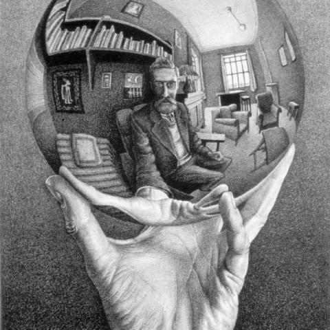 LW268-MC-Escher-Hand-with-Reflecting-Sphere-1935