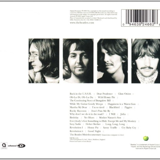 THE BEATLES - The white album_Retro_Cd