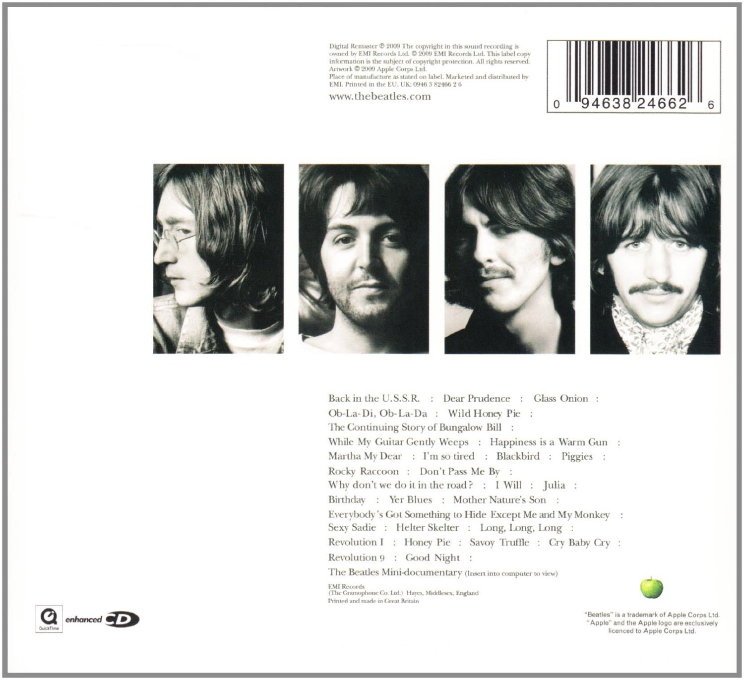 THE BEATLES - The white album_Retro_Cd