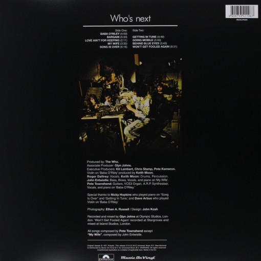 THE WHO - Who's Next - retro